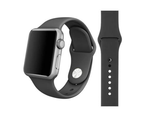 Ремешок для Apple Watch 38 - 40 мм силиконовый темно-серый