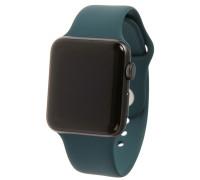 Ремешок для Apple Watch 38 - 40 мм силиконовый темно зеленый