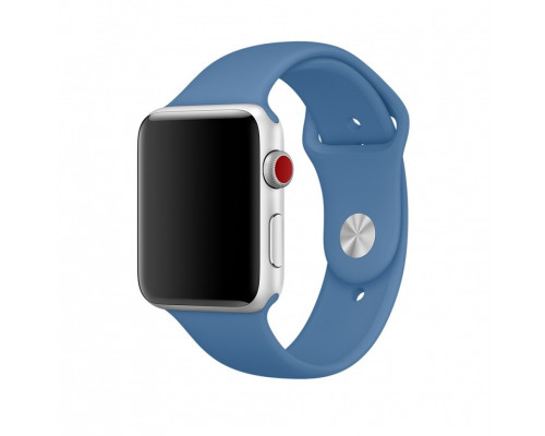 Ремешок для Apple Watch 38 - 40 мм силиконовый светло синий