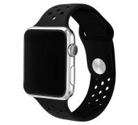 Ремешок для Apple Watch 42 - 44 мм с перфорацией черный