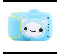 Детский фотоаппарат KIT WHALE котик, со встроенными играми, голубой