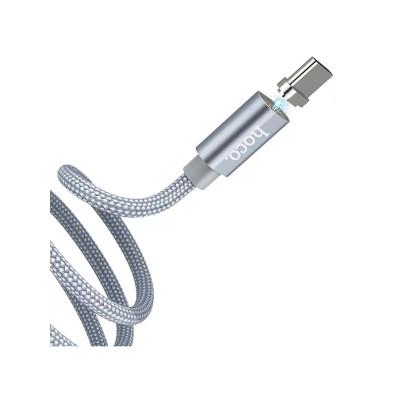 Кабель USB Type-C U40A магнитный 1M HOCO серый