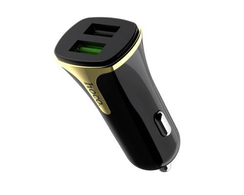 Автомобильная зарядка Hoco Z31, 2 USB, 3.4А, черный