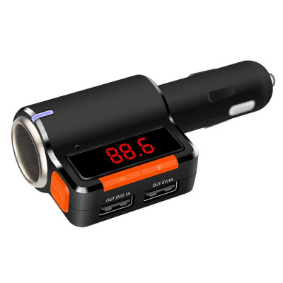 Автомобильное зарядное устройство Earldom ET-M10 dual USB+ cigarette lighter extended car charger