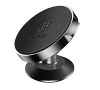 Магнитный держатель Baseus Small Ears Series Genuine Leather SUER-F01 кожаный черный
