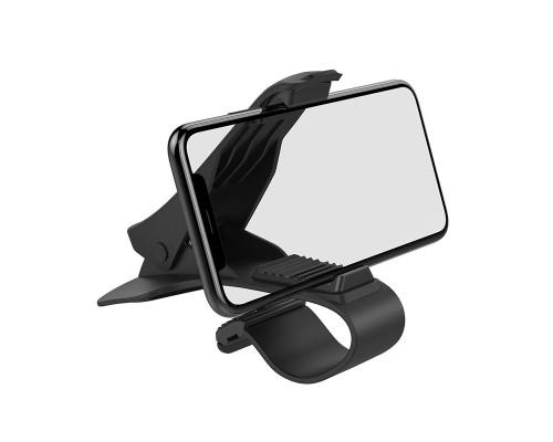 Автодержатель Hoco CA50 In-car dashboard clip mount, черный