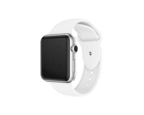 Ремешок для Apple Watch 38 - 40 мм силиконовый белый