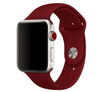 Ремешок для Apple Watch 42-44 мм силиконовый бордовый