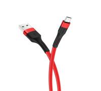 Кабель Hoco X34 USB — MicroUSB, 2.4А, 1м, красный