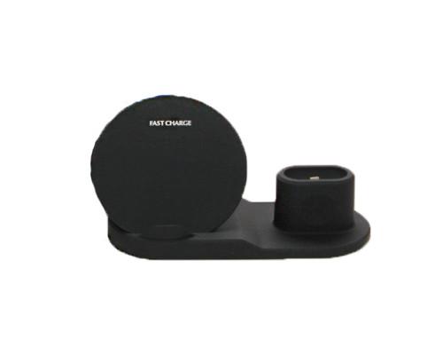 Беспроводное зарядное устройство WiCha N30 3 в 1 с функцией быстрой зарядки 10W