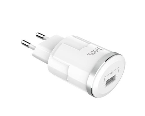 Сетевое зарядное устройство Hoco C37A, Type-C, 2.4А, белое