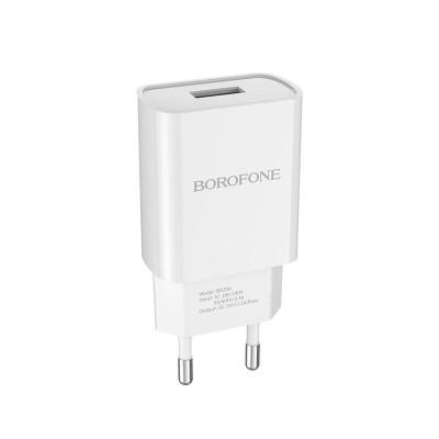 Сетевое зарядное устройство Borofone BA20A Sharp single, 2.1А, белый