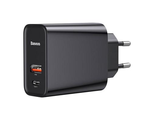 Сетевое зарядное устройство Baseus Speed PPS Quick Charger USB Type-C + USB CCFS-C01 черный