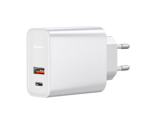 Сетевое зарядное устройство Baseus Speed PPS Quick Charger USB Type-C + USB CCFS-C02 белый
