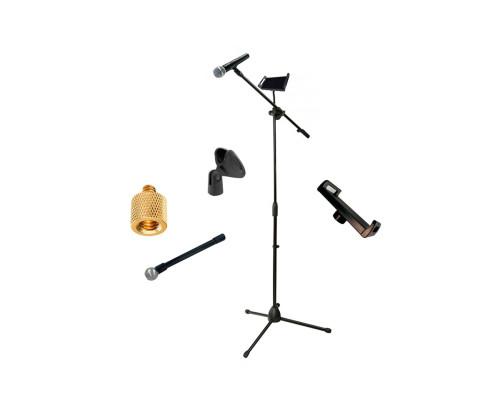 Стойка для микрофона журавль JBH-G23 с держателем микрофона и гибким держателем планшета до 23 см