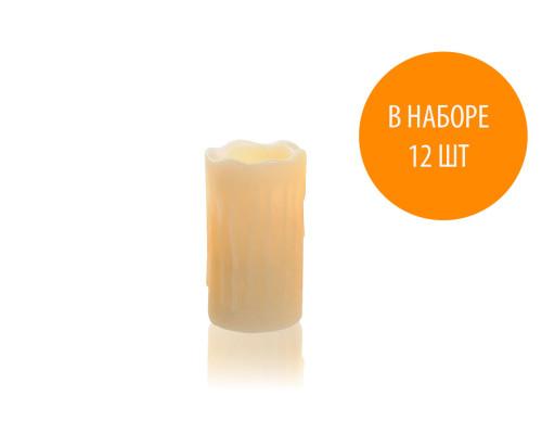 Светодиодные свечи NG-12 на батарейках, длина 7 см, 12 шт.