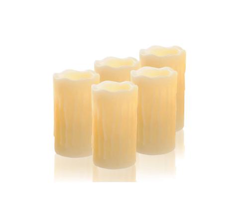 Светодиодные свечи NG-121 на батарейках, 7 см, 5 шт.