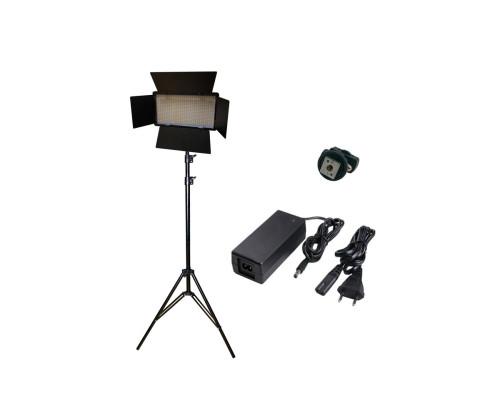 Светодиодная панель со шторками для фотосъемки и штативом