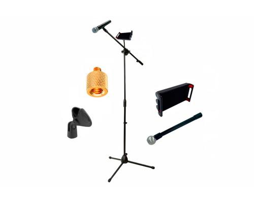 Стойка для микрофона журавль JBH-G22 с держателем микрофона и гибким держателем планшета до 18 см