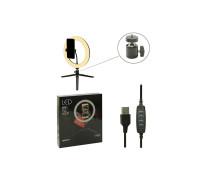 Кольцевая лампа SL-26E для профессиональной съемки, селфи лампа на настольной треноге с держателем для смартфона, диаметр лампы - 26 см
