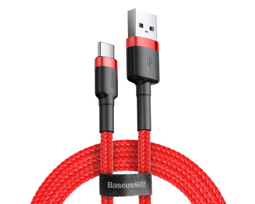 Кабель USB Type-C 1M 3A Cafule Cable Baseus красный