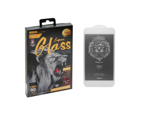 Защитное стекло Remax GL-35 для iPhone 8 9D белое антишпион