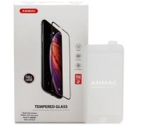 Защитное стекло ANMAC 5D для iPhone 8 Full Cover, дисплей и задняя часть, белое