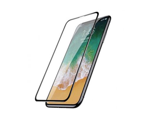 Защитное стекло ANMAC 5D для iPhone XS Full Cover, дисплей и задняя часть, черное