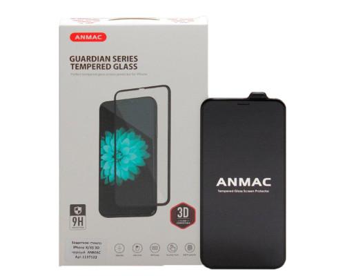 Защитное стекло ANMAC 3D для iPhone XS черное