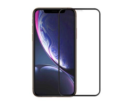 Защитная пленка для iPhone XS glass fiber черный