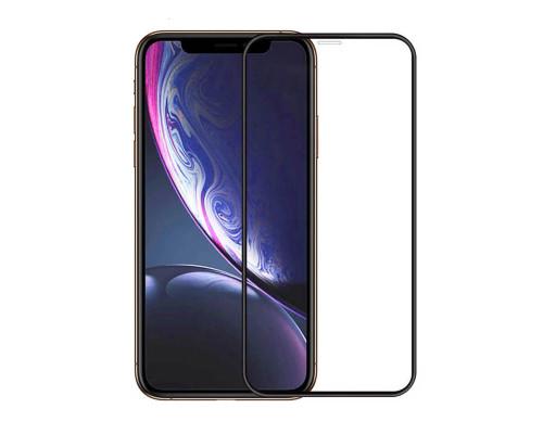 Защитная пленка для iPhone X glass fiber черный