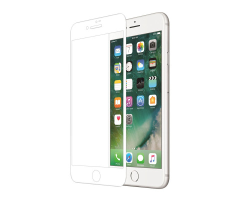 Защитная пленка для iPhone 7 Plus glass fiber белый
