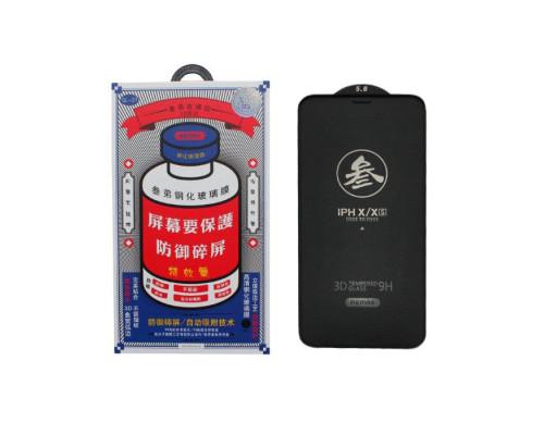 Защитное стекло Remax Medicine GL-27 для iPhone X 3D черное