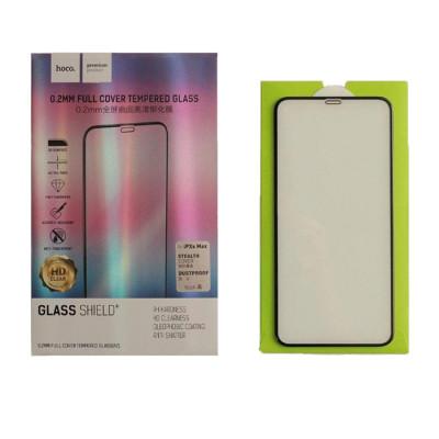 Защитное стекло HOCO для iPhone XS Max 3D толщина 0.2 мм черное