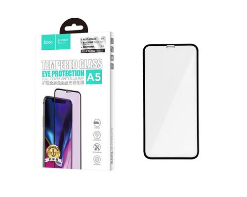 Защитное стекло HOCO для iPhone XS Max 3D Anti Blue Ray черное