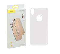 Защитное стекло Baseus для iPhone XS Max задняя часть белое