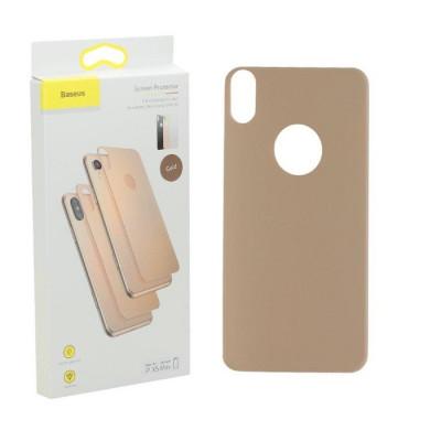 Защитное стекло Baseus для iPhone XS Max задняя часть золото