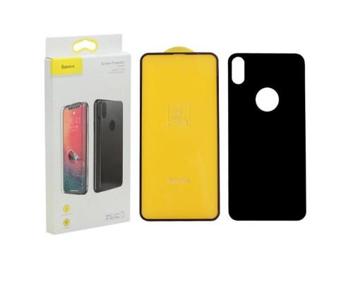Защитное стекло Baseus для iPhone XS Max 3D 2 в 1 дисплей и задняя часть черное