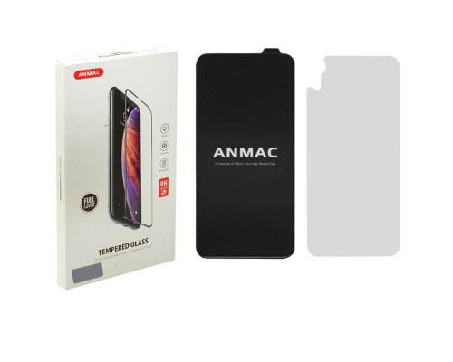 Защитное стекло ANMAC для iPhone XR, полная проклейка, дисплей и задняя часть