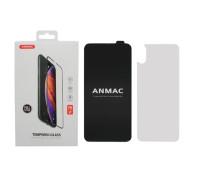 Защитное стекло ANMAC для iPhone XS Max, Full Cover, дисплей и задняя часть