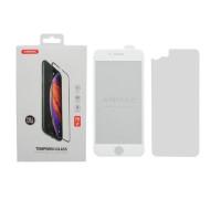 Защитное стекло ANMAC для iPhone 6, Full Cover, дисплей и задняя часть, белый