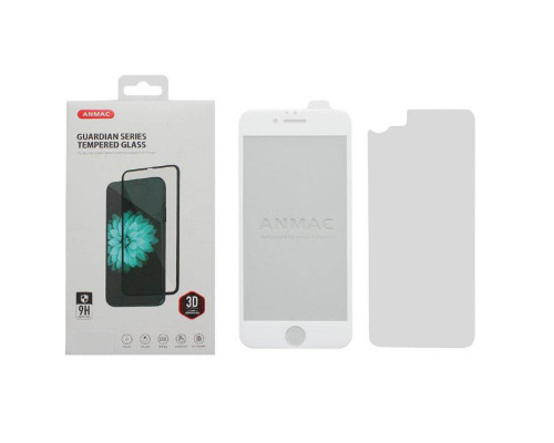 Защитное 3D стекло ANMAC для iPhone 6, дисплей и задняя часть