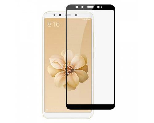 Защитное стекло для Xiaomi Mi 6X 5D полная проклейка, черный