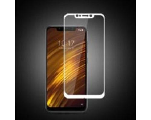 Защитное стекло для Xiaomi Pocophone F1 3D белое