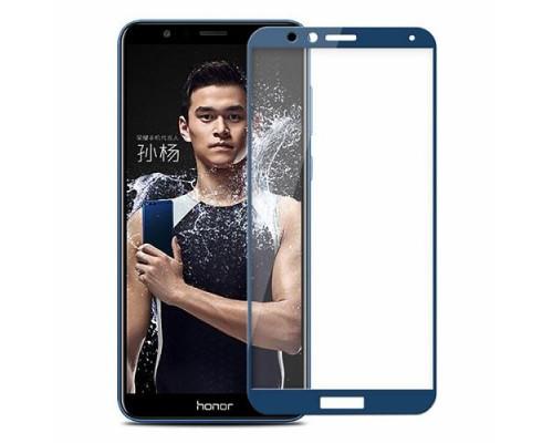 Защитное стекло для Honor 7X 3D синее