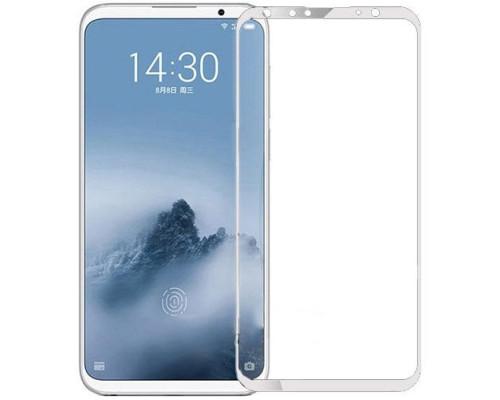 Защитное стекло для Meizu 16th 3D белое