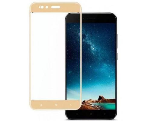 Защитное стекло для Xiaomi Mi A1 3D золотое
