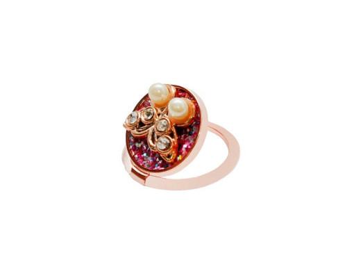 Кольцо-держатель для телефона, бабочка, стразы