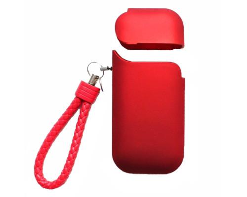 Чехол для IQOS 2.4 Plus красный с ремешком