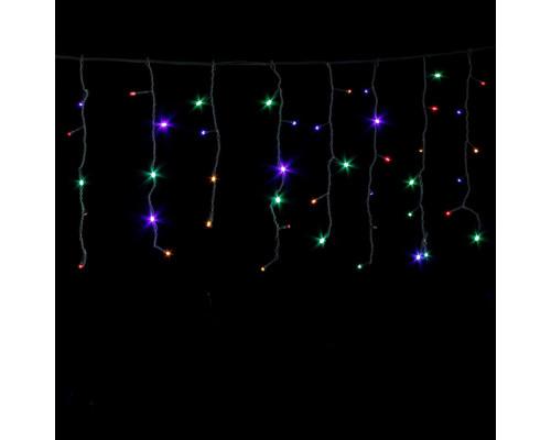 Гирлянда Бахрома 250 ламп, 300х50 см разноцветная